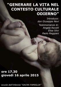 introduce don Giuseppe Nevi; testimonianze di Angela Ravelli, Elisa Silvi, Paolo Reggiani